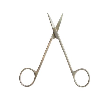 doctor scissors on white isolated background Stock fotó