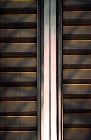 half Escalator with sun shade ,top view Imagens