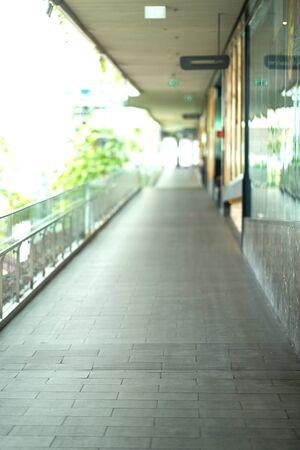 slope balcony walkway ,selective focus