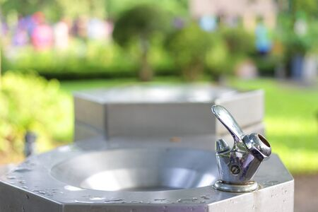 Water tap for drink in public park