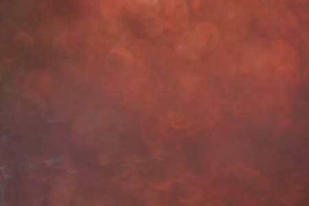 Abstract photo of red smoke  bokeh on black light