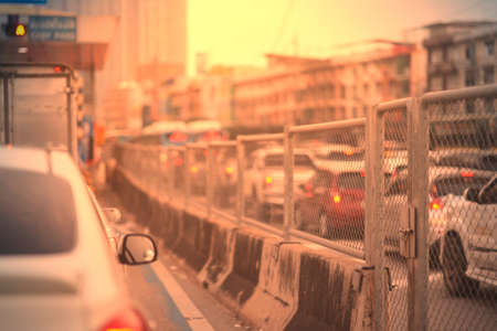Cars truck on road in traffic jam Reklamní fotografie