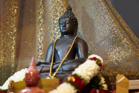 Buddha statue on high place for sacred bow and pray Reklamní fotografie