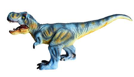 Tyranosaurus or T rex on isolated white background Stock Photo