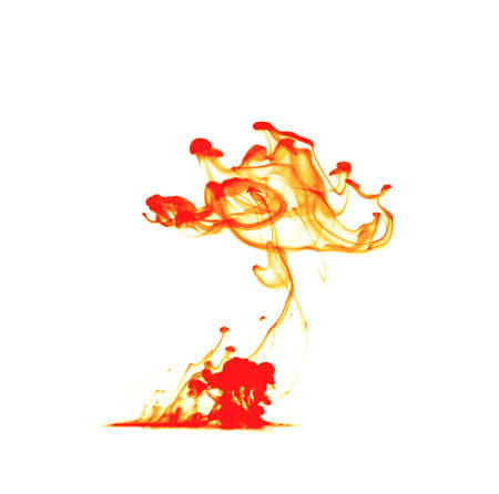 Motion ink Color drop in water make Cloud of ink under water isolated
