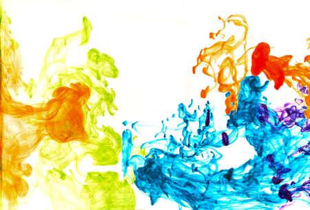 Motion ink Color drop in water make Cloud of ink under water