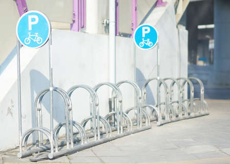 Bicycle parking lot on street in Thailand