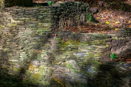 カバー型の古い壁 写真素材