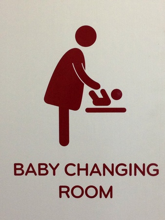baby changing sign: Baby changing room sign