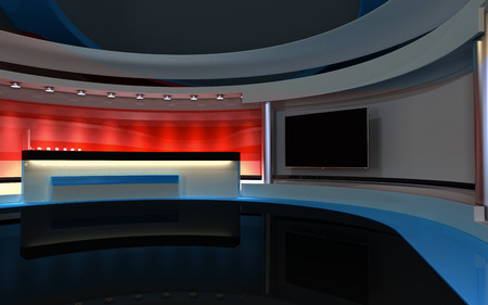 Studio The perfect backdrop for any green screen or chroma key video production. Stock Photo