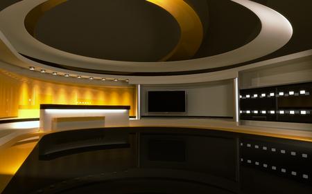 Studio die perfekte Kulisse für jeden grünen Bildschirm oder Chroma-Key-Video-Produktion.
