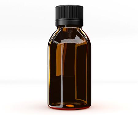Glass bottle, medicine Stock Photo