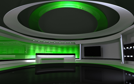 Studio The perfect backdrop for any green screen or chroma key video production. Zdjęcie Seryjne