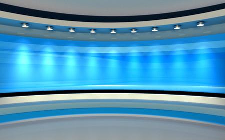 Blue Studio. Blue back drop. 3d rendering Foto de archivo