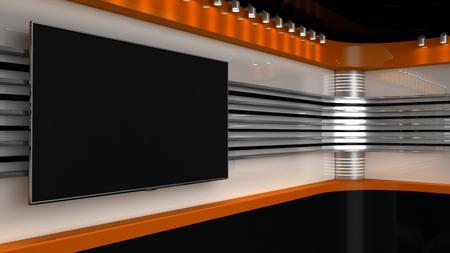 tv studio furniture. Tv Studio. Orange Backdrop For TV Shows .TV On Wall. News Studio Furniture