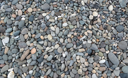 Beach stones background. Top view. Stock Photo - 107266920