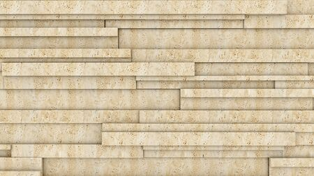 Stone wall. Travertine 3D rendering