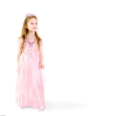 toyshop: Dreamy five - year - old girlie as princess Stock Photo