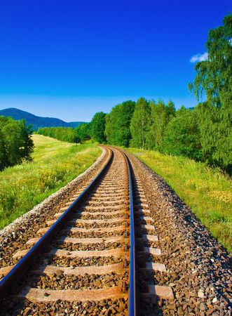 empty railway Stock Photo - 3401954