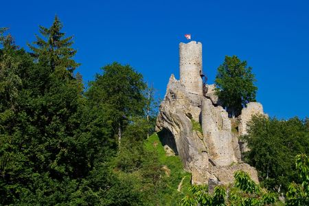 tarnish: photo of an old castle Frydstejn in Bohemia
