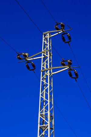conduit: picture of power pole of high tension
