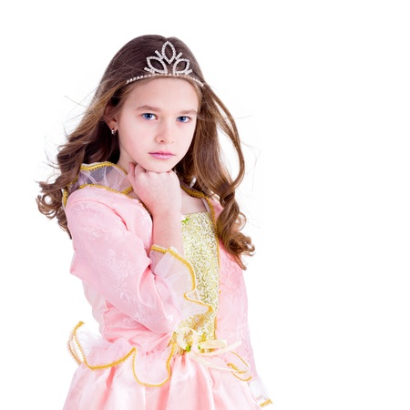 queen of angels: Young girl dressed as a princess