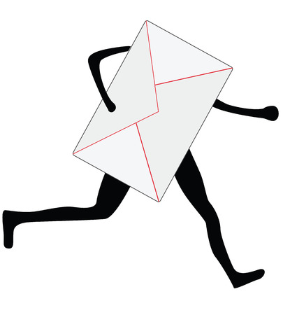 sillhouette: running envelope sillhouette, express delivery