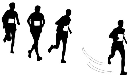 sillhouette: runners sillhouette isolated on white