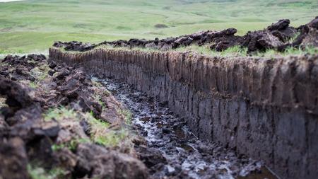 turf bog: Peat digging on the Isle of Skye, Scotland