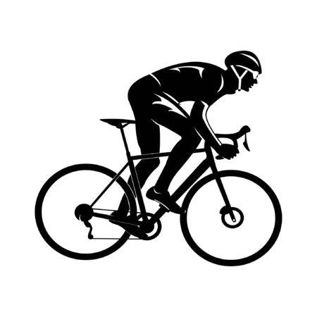 vector illustration of a man riding a rally bike Illustration