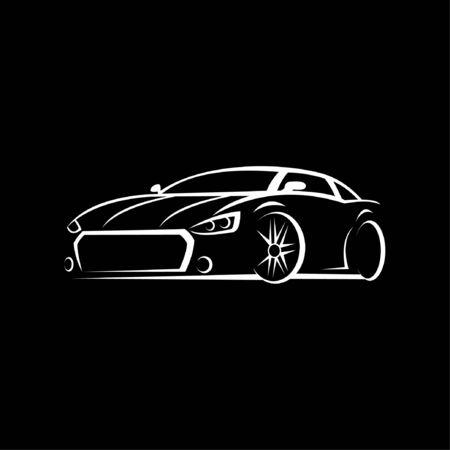 Vector illustration of a sports car Illustration