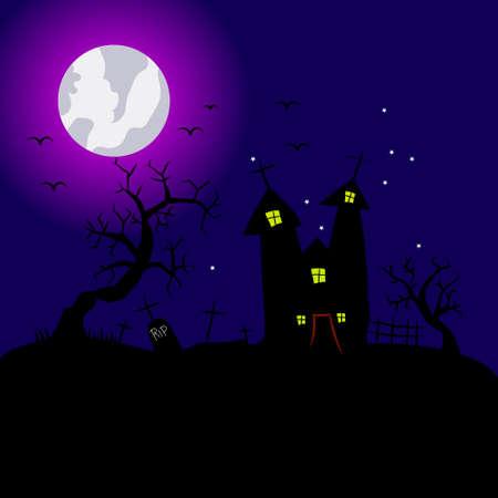 Suggestive Halloween Party Flyer for Entertainment Night Event silhouette illustration Ilustración de vector