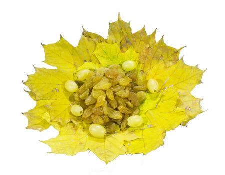 a tasty and healthy dessert rich in vitamins - sun-dried the grapes (raisins)