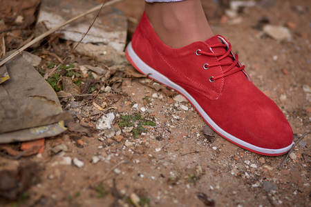 Red womens shoes