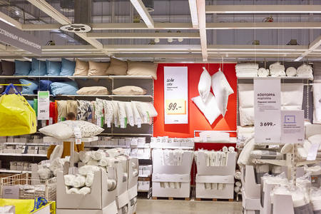 SAMARA, RUSSIA - NOVEMBER 15, 2017: Interior of the Ikea store . IKEA is the world's largest furniture retailer. Editorial