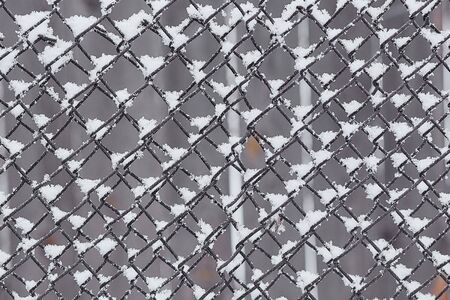 fence from a grid of snow, Background Texture