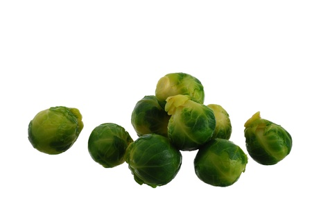 Fresh Brussels sproutsisolated on white background