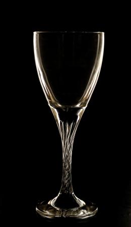 festive glass goblet