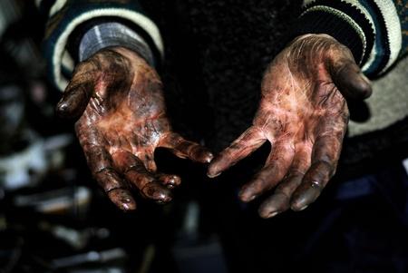 hands worker men Stock Photo