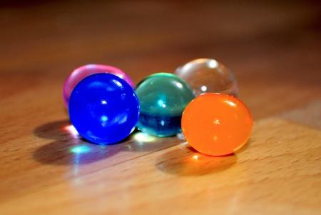 varicoloured: varicoloured water balls Stock Photo