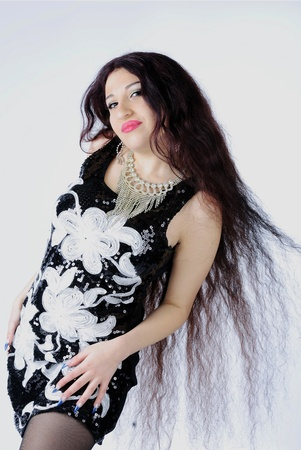 making look younger beautiful gypsy with long hair
