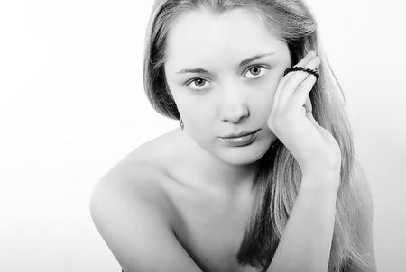 iuml: Portrait of the beautiful girl in costume jewellery