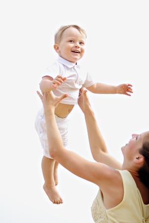 eacute: Madre con il bambino