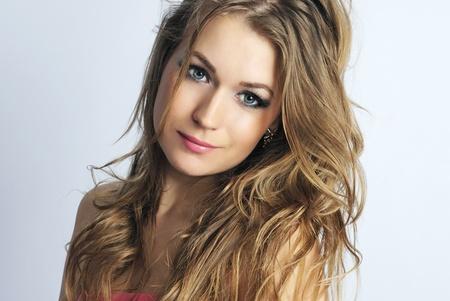 gentile: making look younger beautiful girl in rose long year peasant woman