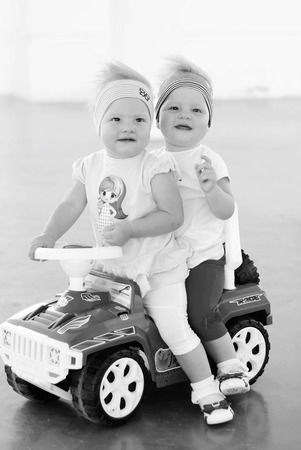 sisters twins for a walk