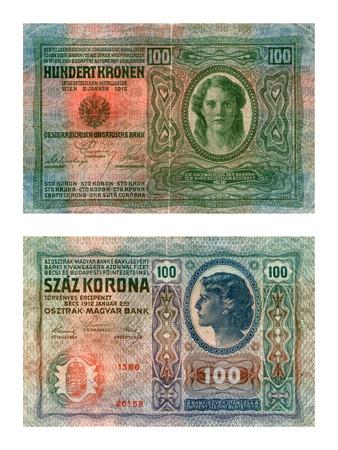 Avstro-Hungarian bank, one hundred kronas, 1912 Editorial