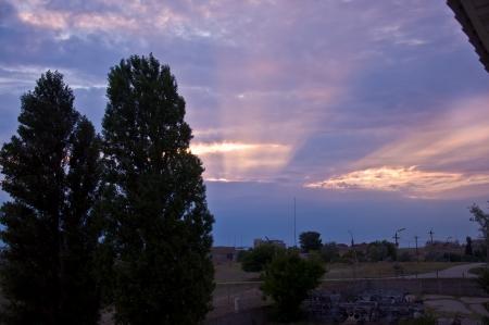 rays of the sundown