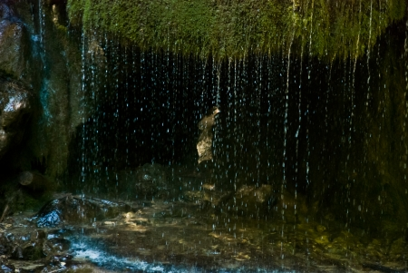 Silver stream, waterfall Stock Photo