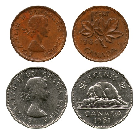 five cents: one and five cents, Canada, 1961-1964