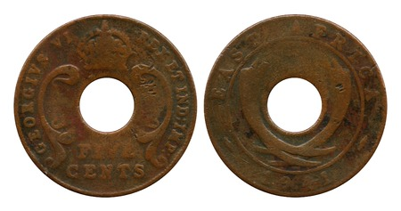 five cents: five cents, East Africa, Georg Sixth, 1941
